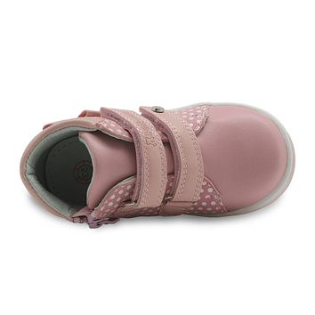 Girls Shoes Spring Autumn Pu Leather Children's Shoes with Zip Anti-Slip Kids Lovely Sneaker for Toddler Girls