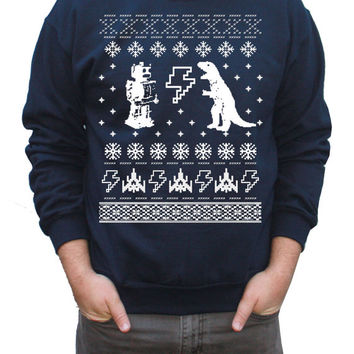 Ugly Christmas Sweater Geeky Pullover Sweatshirt S M L XL XXL