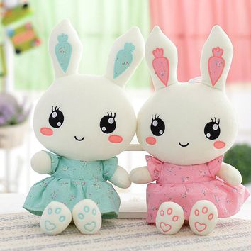 New Cute Wearing dress Rabbit plush toys bunny Stuffed dolls kids toys birthday gifts,clothes can be take off