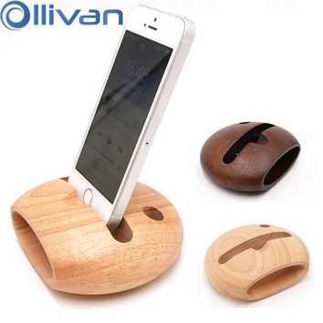 Wooden Fish Phone Holder Wood Stand Phone Sound Amplifier For iPhone X 6 6S 7 8 Plus Bamboo Mobile Phone Holder Loudspeaker Desk