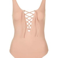 PETITE Tie Up Body - Tops - Clothing