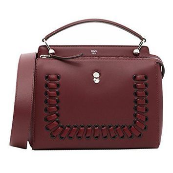 FENDI WOMEN'S 8BN2937FVF0MY4 BURGUNDY LEATHER HANDBAG