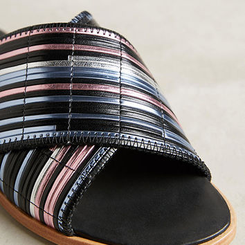 Miista Deb Metallic Slides