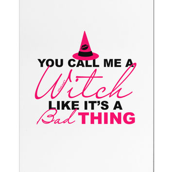 Witch - Bad Thing Text Aluminum Magnet