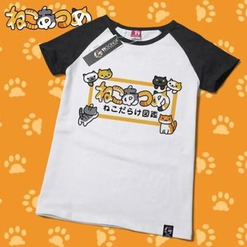 Neko Atsume Cute Kawaii Cat T-Shirt V1