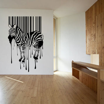 Zebra Stripes Paint Drips Vinyl Wall Decal Sticker Graphic