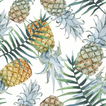 Population: Pineapple Removable Wallpaper