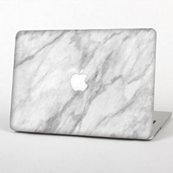 """The White Marble Surface Top Lid And Inside Keyboard Skin Set for the Apple MacBook Pro 13\"""" (Without Retina Display): Amazon.ca: Electronics"""