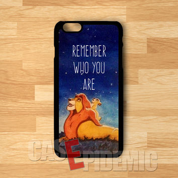 remember who you are simba-1nn for iPhone 6S case, iPhone 5s case, iPhone 6 case, iPhone 4S, Samsung S6 Edge