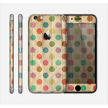 The Vintage Tan & Colored Polka Dots Skin for the Apple iPhone 6