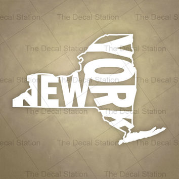 New York Vinyl Decal Sticker for Car Truck Auto. Word Art . US State Pride.
