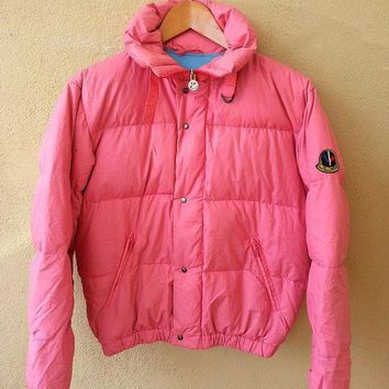 authentic moncler pink asics puffer ski wear gore tex sweater jacket  number 5