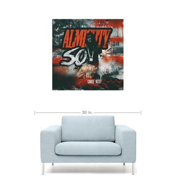 """Chief Keef - Almighty So Mixtape Cover 20"""" x 20"""" Premium Canvas Gallery Wrap Home Wall Art Print"""
