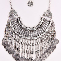 The Tribe Statement Necklace - Antique Silver