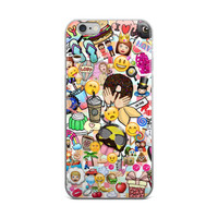 Girls Life Emoji Collage Cute Girly Girls Starbucks Girl Code iPhone 4 4s 5 5s 5C 6 6s 6 Plus 6s Plus 7 & 7 Plus Case