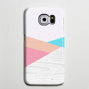 Pink Blue Wood Geometric Galaxy s6 Edge Plus Case Galaxy s6 s5 Case Samsung Galaxy Note 5 Phone Case s6-153