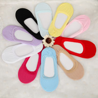 5 Pairs/lot Invisible Socks Cotton Women Candy Color Female Boat Ankle Summer Slipper Low Cut Sock