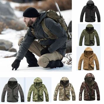 2018 Hunting clothes Outdoor Shark Skin tad v4 Tactical millitary Softshell Jacket Suit Men Waterproof Combat Jacket Or Pants