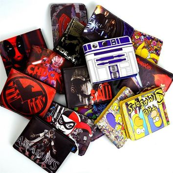 cartoon wallet, zombie, Variety Hunger Games movie, a short multi-card bit minimalist cartoon wallet men and women