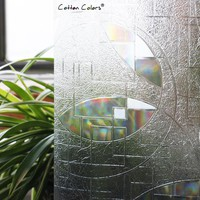 CottonColors PVC Waterproof Window Cover Films No-Glue 3D Static Decorative Window Privacy Glass Stickers Size 60 x 200cm