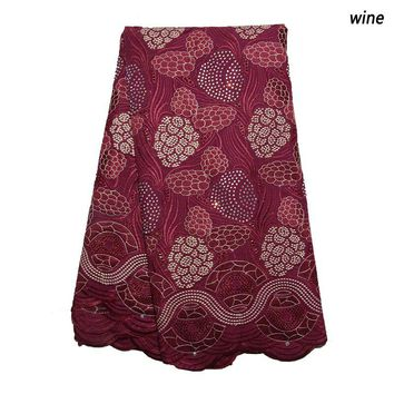 high quality african swiss voile lace fabric with stones nigerian bridal cotton lace fabric