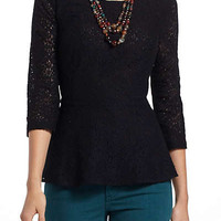 Anthropologie - Lace Peplum Blouse