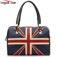 2016 New  Women's British Style Union Jack UK Flag Leather Handbag Shoulder Big women Vintage Messenger Bag