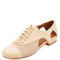 CUTOUT LACE-UP OXFORD