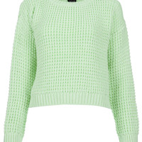 Knitted Textured Crop Jumper - New In - Topshop USA
