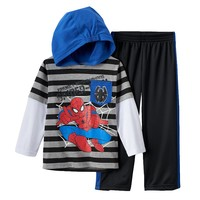Spider-Man ''Friendly Neighborhood Spider-Man'' Hooded Tee & Pants Set - Boys
