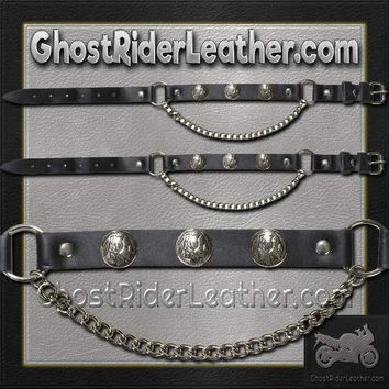 Pair of Biker Boot Chains - Indian Head - SKU GRL-BC4-DL
