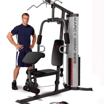 Multifunction Steel Home Gym 150lb Stack Exercise Machine