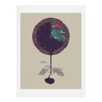 Hector Mansilla Night Falls Art Print