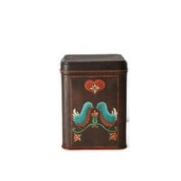 Collectiable Tin Canister Birds Flowers Hearts Century Resources Inc