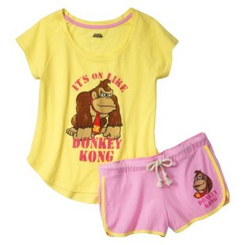 Donkey Kong® Juniors' Pajama Set - Yellow