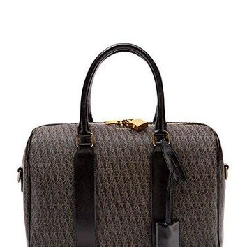 Saint Laurent Classic YSL Monogram Toile Satchel Shoulder Bag 342100