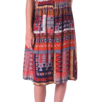 Falling In Love Midi Skirt - Multi Print