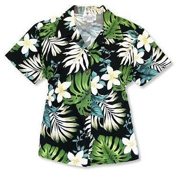 amazon black hawaiian lady blouse