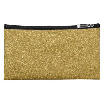 Gold Glitter Cosmetic Bags