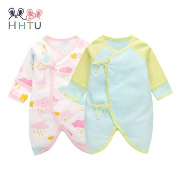 HHTU 2017 Baby Rompers Long Sleeve Cotton Cute Infant Product Boy Girl Romper Jumpsuit for Newborns Baby Clothes Summer Spring