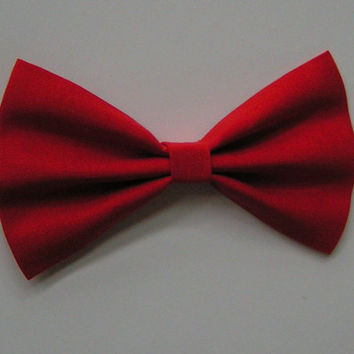 Lipstick Red Hair Bow for kids adults, Fabric Hair Bows, Hair Bows for teens, big red bow