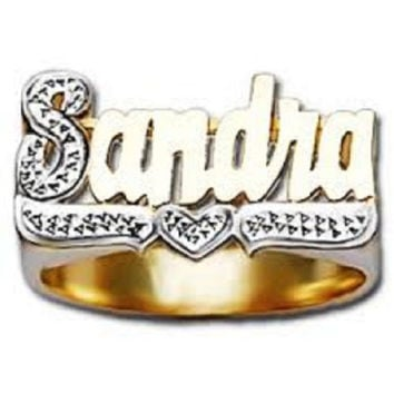 14k Gold Overly Any Name Ring Letters Personalized Jewelry/a2