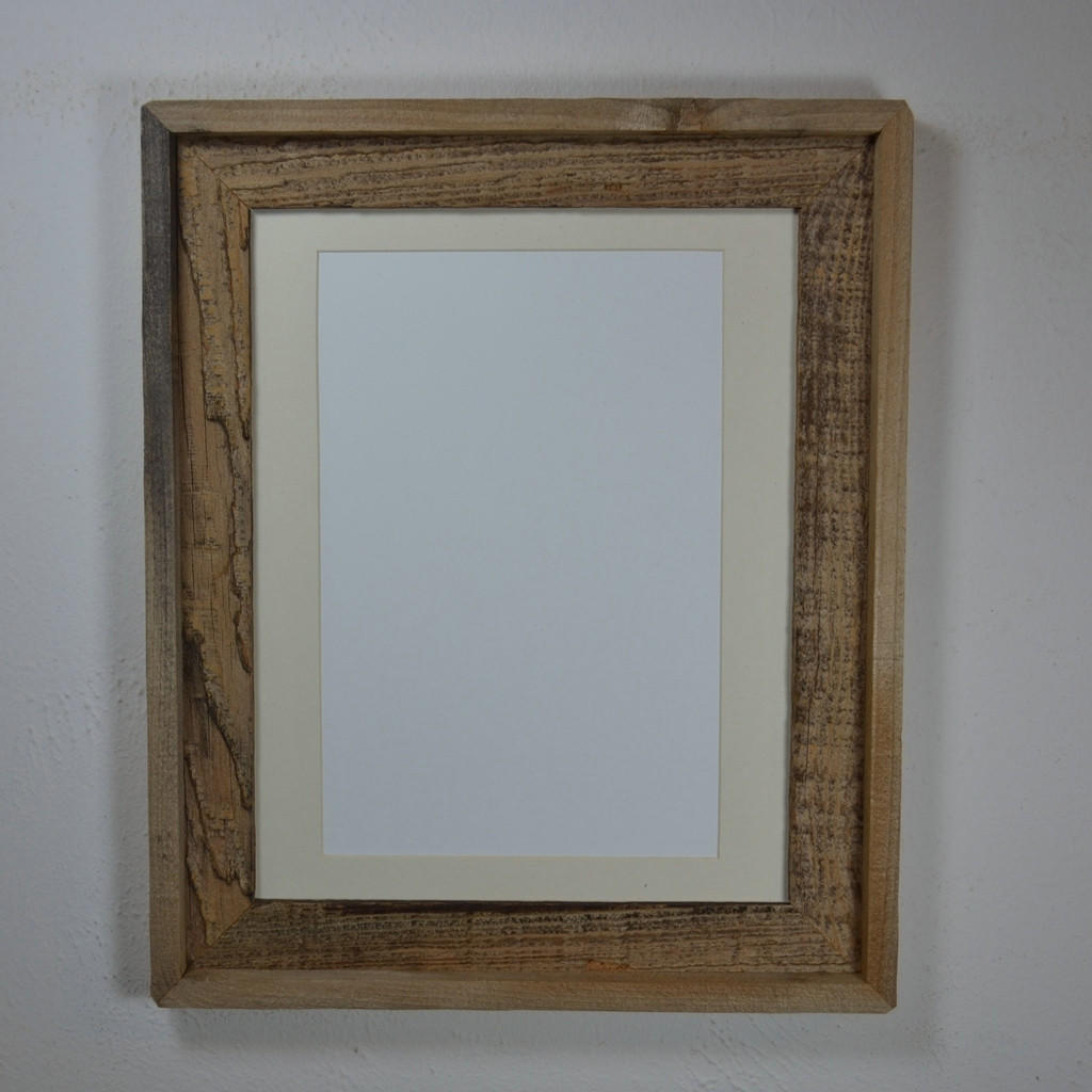 11x14 Natural Wood Frame With Mat Great From Barnwood4u