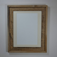 11x14  natural wood frame with mat great for prints or photos