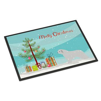 Spanish Water Dog Merry Christmas Tree Indoor or Outdoor Mat 24x36 BB2933JMAT