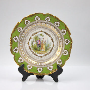 Richard Klemm Dresden Porcelain / Cabinet Plate / Home Decor