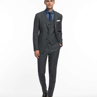The Mayfair Suit in Charcoal and Navy Plaid