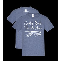 Southern Couture Country Roads Take Me Home Front Print Girlie Bright T Shirt