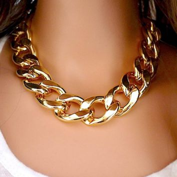 New Fashion Necklaces Thick Chain Statement Necklaces & Pendants Women Jewelry Wholesale A214G