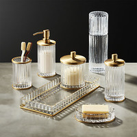 ribbed glass bath accessories